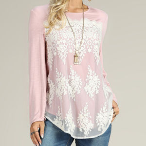 NEW Suzane Betro Lace Front Top